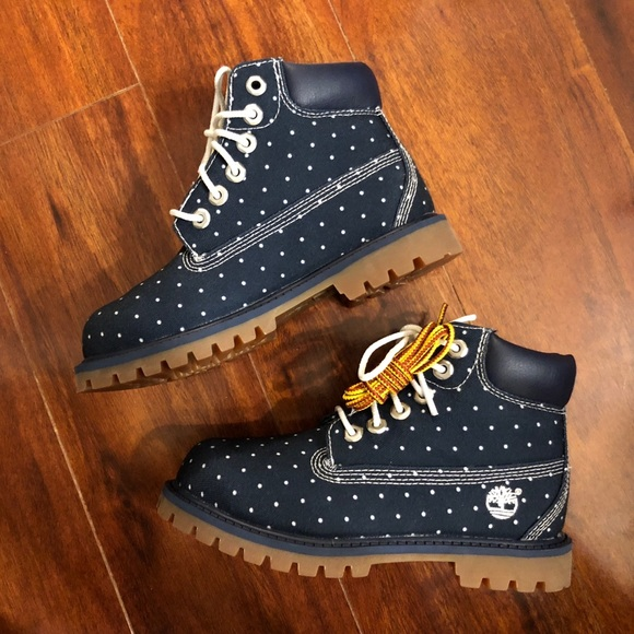 Children's Polka Dot Timberland Boots